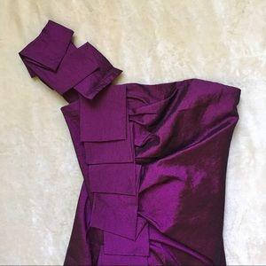 c4c879e2118 Cache Dresses - Caché One Shoulder Purple Shimmer Cocktail Dress